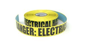 Danger: Electrical Hazard - Inline Printed Floor Marking Tape