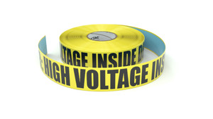 Danger: High Voltage Inside Do Not Enter - Inline Printed Floor Marking Tape