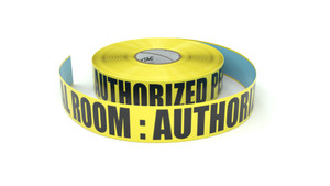 Electrical Room : Authorized Personnel Only - Inline Printed Floor Marking Tape