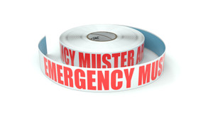 Emergency Muster Area - Inline Printed Floor Marking Tape
