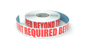 Escort Required Beyond This Point - Inline Printed Floor Marking Tape