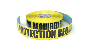 Eye And Foot Protection Required Beyond This Point - Inline Printed Floor Marking Tape