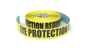 Eye Protection Required - Inline Printed Floor Marking Tape