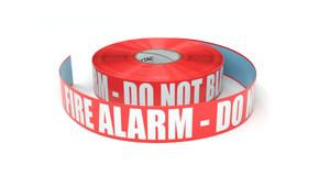 Fire Alarm - Do Not Block - Inline Printed Floor Marking Tape