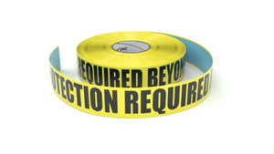 Foot Protection Required Beyond This Point - Inline Printed Floor Marking Tape