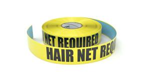 Hair Net Required - Inline Printed Floor Marking Tape