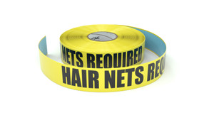 Hair Nets Required - Inline Printed Floor Marking Tape