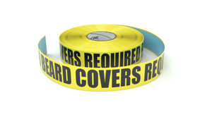 Hairnets and Beard Covers Required Beyond This Point - Inline Printed Floor Marking Tape