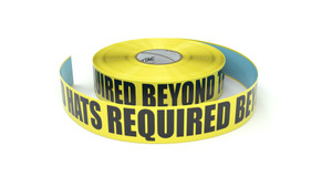 Hard Hats Required Beyond This Point - Inline Printed Floor Marking Tape