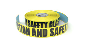 Hearing Protection And Safety Glasses Must Be Worn - Inline Printed Floor Marking Tape