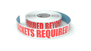 Hi-Vis Jackets Required Beyond This Point - Inline Printed Floor Marking Tape