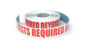 Hi-Vis Vests Required Beyond This Point - Inline Printed Floor Marking Tape