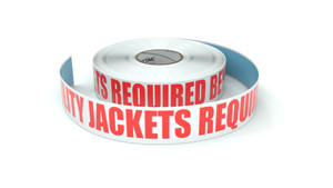 High Visibility Jackets Required Beyond This Point - Inline Printed Floor Marking Tape