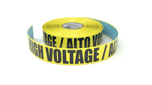 High Voltage / Alto Voltaje (High Voltage Spanish) - Inline Printed Floor Marking Tape
