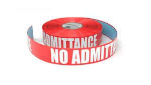 No Admittance - Inline Printed Floor Marking Tape