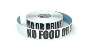 No Food or Drink - Inline Printed Floor Marking Tape