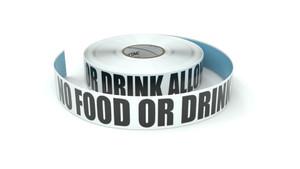 No Food Or Drink Allowed - Inline Printed Floor Marking Tape