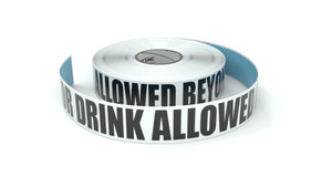 No Food Or Drink Allowed Beyond This Point - Inline Printed Floor Marking Tape