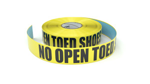 No Open Toed Shoes - Inline Printed Floor Marking Tape