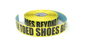 No Open Toed Shoes Beyond This Point - Inline Printed Floor Marking Tape