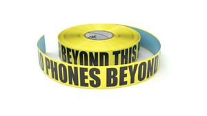 No Phones Beyond this Point - Inline Printed Floor Marking Tape