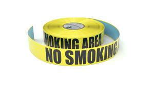 No Smoking Area - Inline Printed Floor Marking Tape
