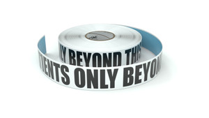 Patients Only Beyond This Point - Inline Printed Floor Marking Tape
