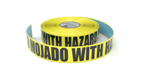 Piso Mojado with Hazard Stripes (Spanish) - Inline Printed Floor Marking Tape