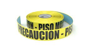 Precaucion - Piso Mojado (Caution - Wet Floor Spanish) - Inline Printed Floor Marking Tape