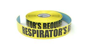 Respirator's Required - Inline Printed Floor Marking Tape