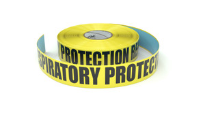 Respiratory Protection Required  - Inline Printed Floor Marking Tape