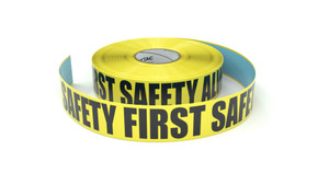Safety First Safety Always - Inline Printed Floor Marking Tape