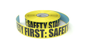 Safety First: Safety Starts Here - Inline Printed Floor Marking Tape