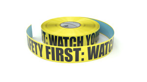 Safety First: Watch Your Step - Inline Printed Floor Marking Tape