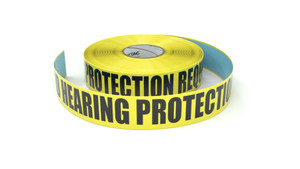 Safety Glasses And Hearing Protection Required Beyond This Point - Inline Printed Floor Marking Tape