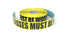 Safety Glasses Must be Worn at All Times - Inline Printed Floor Marking Tape