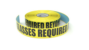 Safety Glasses Required Beyond This Point - Inline Printed Floor Marking Tape