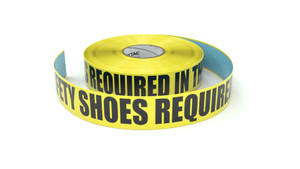 Safety Shoes Required In This Area - Inline Printed Floor Marking Tape