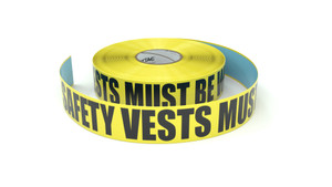 Safety Vests Must Be Worn - Inline Printed Floor Marking Tape