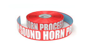 Stop Sound Horn Proceed Slowly - Inline Printed Floor Marking Tape