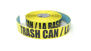 Trash Can / La Basura (Spanish) - Inline Printed Floor Marking Tape