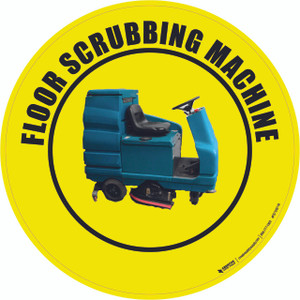 Floor Scrubbing Machine Floor Sign