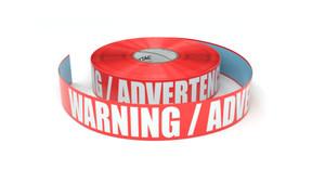 Warning / Advertencia - Inline Printed Floor Marking Tape