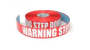 Warning Step Down - Inline Printed Floor Marking Tape