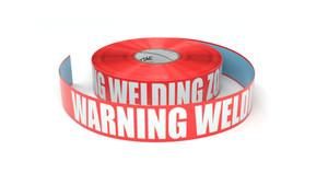 Warning Welding Zone - Inline Printed Floor Marking Tape