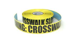 Warning: Crosswalk SLOWDOWN! - Inline Printed Floor Marking Tape