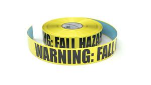 Warning: Fall Hazard - Inline Printed Floor Marking Tape