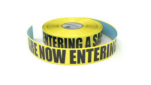 You Are Now Entering A Safety Zone - Inline Printed Floor Marking Tape