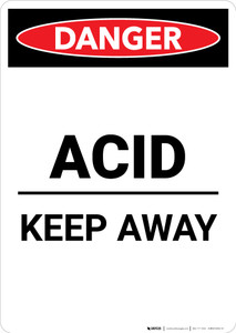 Acid Keep Away - Portrait Wall Sign