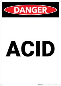 Acid - Portrait Wall Sign